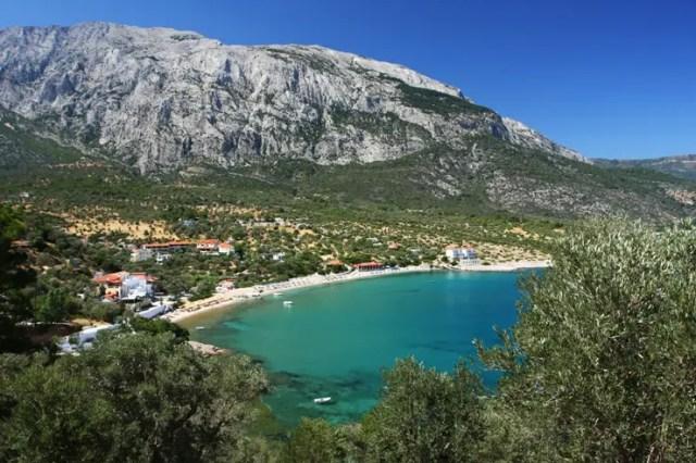 Limnionas strand op Samos