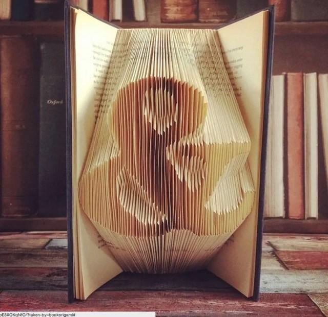 Boeken worden origamisculpturen | Paradijsvogels Magazine