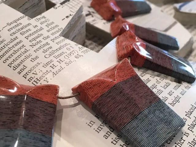 sieraden van papier