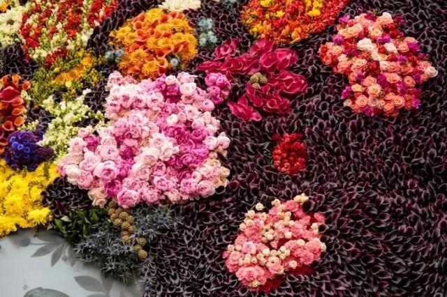 Stilleven van bloemen in een Wan-Li Vaas