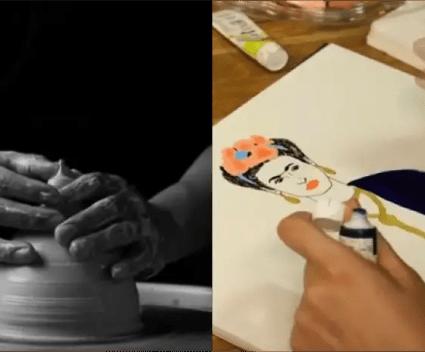 14 betoverende filmpjes waarin je de kunstenaar aan het werk ziet