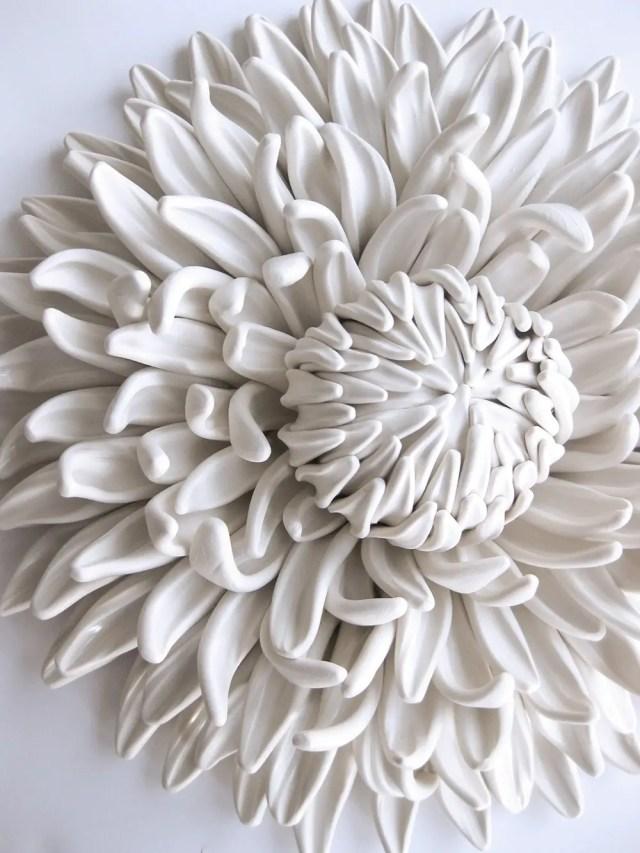 bloemen van klei