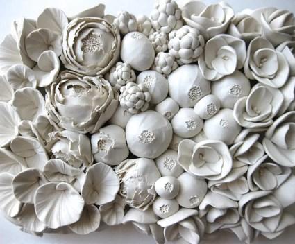 Schitterende bloemen van klei