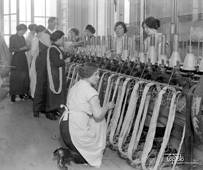 Queen's Work For Women. Hosiery Factory at Headquarters 1914 - 1918