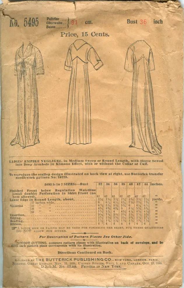 Naaipatroon 1899 - Butterick