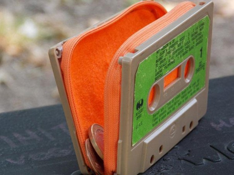 cassettebandje recycle portemonnee