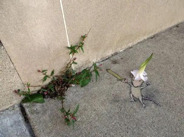 Muisje en garde plant