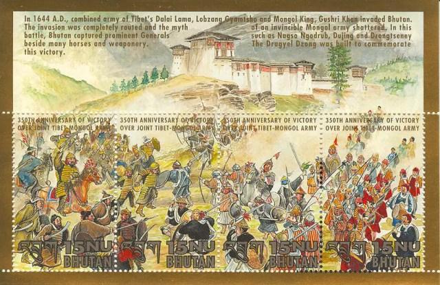 Postzegels Bhutan 11
