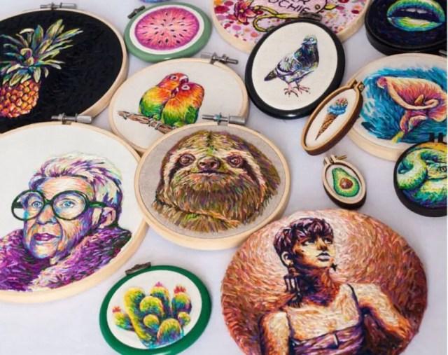thema's borduurkunst flora fauna portretten
