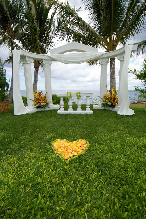 Weddings paradise cove events for Au jardin wedding package