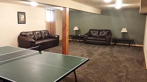 Recreation Room at the Paradise Creek Sexual Addiction Retreat
