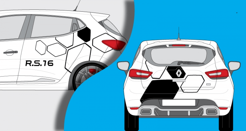 Stickers Renault clio RS 16
