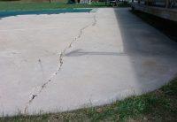 Cracked concrete patio - Paradise Pool and Patio
