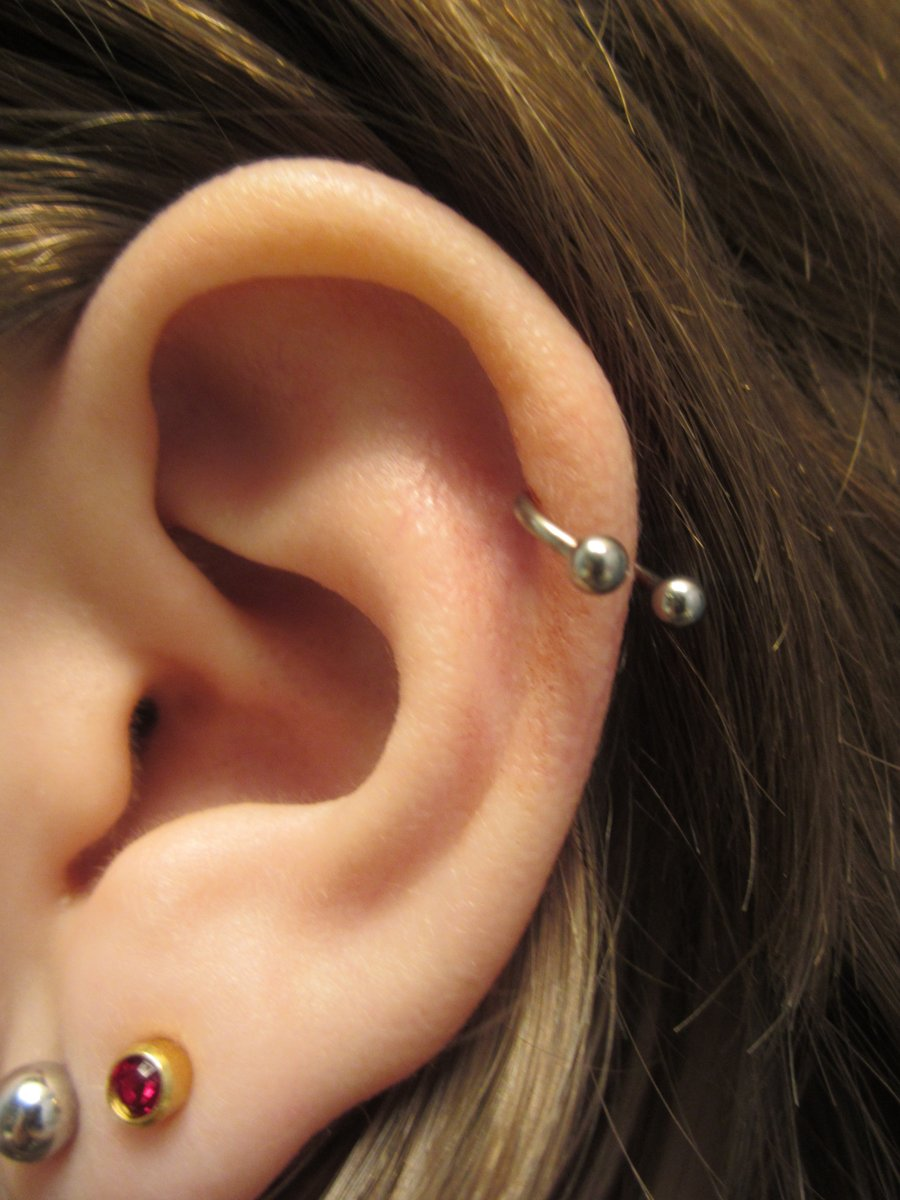 hight resolution of helix piercing