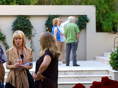 Left side owner Jan Swinhoe with Pod & Pod artist Julie Hickson