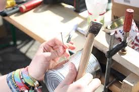 man crafting