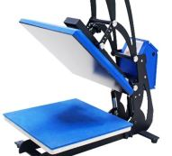 blue heat press machine