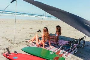 open beach tent