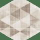 Hexx Universum Motyw Crema Heksagon, 26 x 26 cm