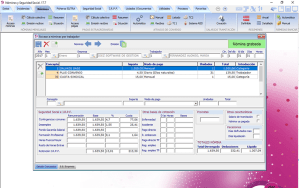 pantalla de nóminas por trabajador