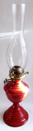 Twin Wick Paraffin Lamp Red