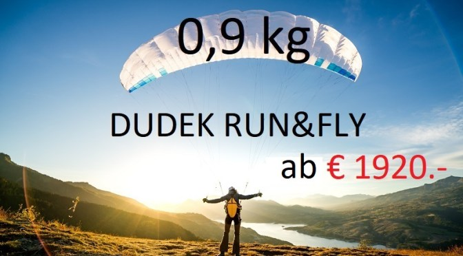 DUDEK Run&Fly  986gr  The world lightest and compact aircraft