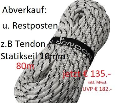 """""""Totalabverkauf von Seilen"""" bei Industriekletterer.com bis 15.12.2018"""