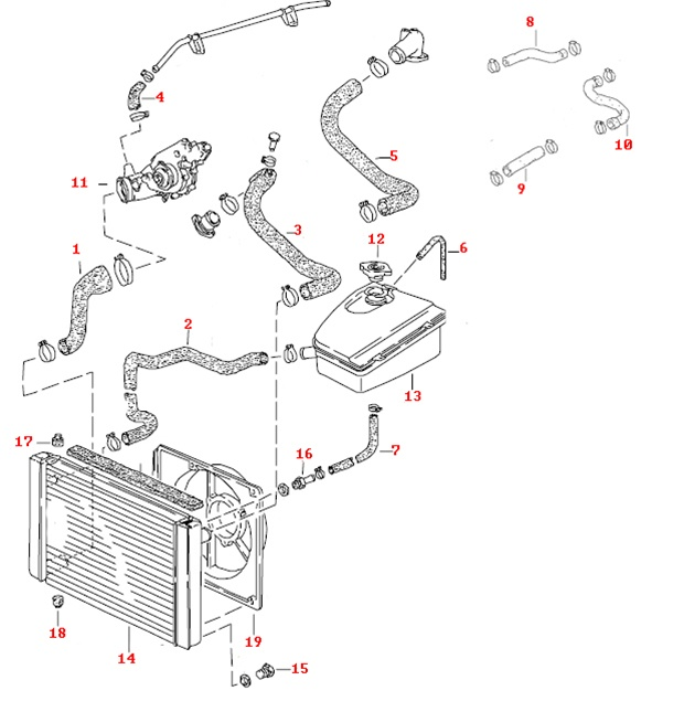 peugeot 106 wiring diagram urinary system and functions porsche 944 cooling hose kit, 8 valve.
