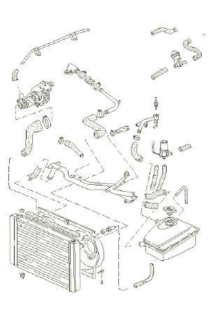 Porsche 944 Turbo Cooling Radiator Hose Kit.