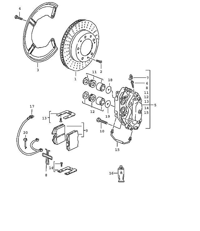 Porsche Brake Caliper Crossover 928, 944, 968 & 993