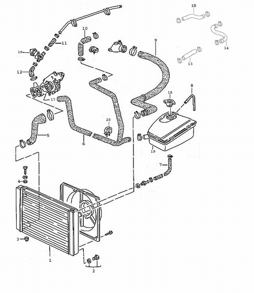 Porsche 944 Radiator Diagram, Porsche, Free Engine Image