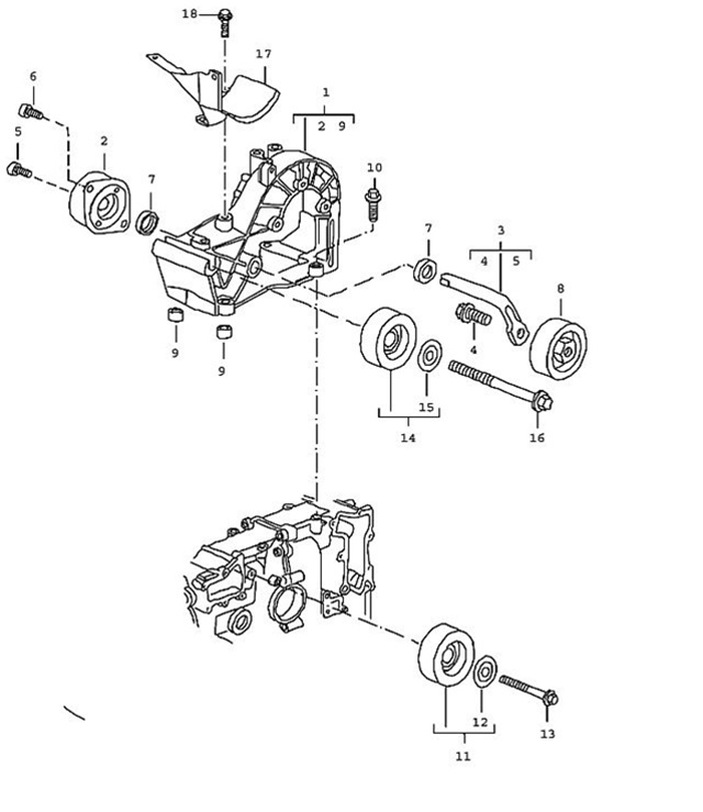 Porsche 911 Carrera, Boxster and Cayman Lower Belt Idler