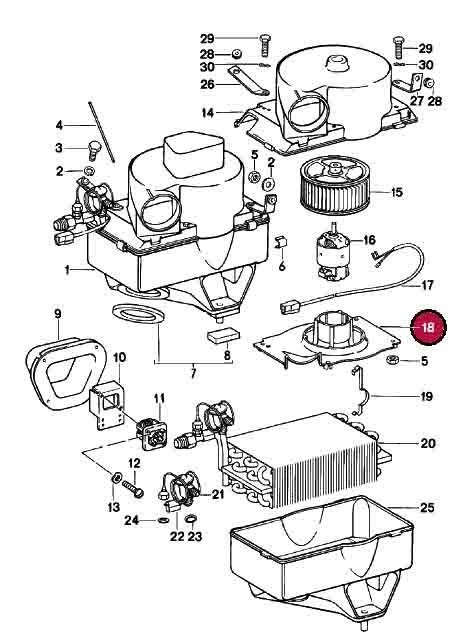 Blower Motor Support for A/C Evaporator
