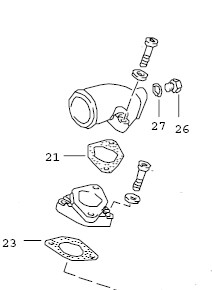This Porsche 924S and 944 Water Hose Flange Gasket