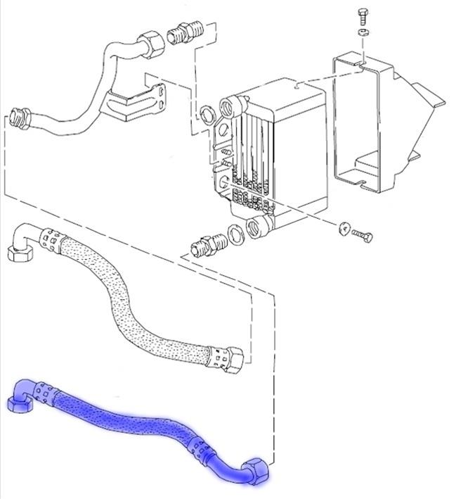 Porsche 944 Turbo Oil Cooler Oil Line
