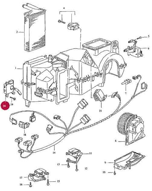 Actuator Motor for Air Flow Sensor Plate (Yellow)