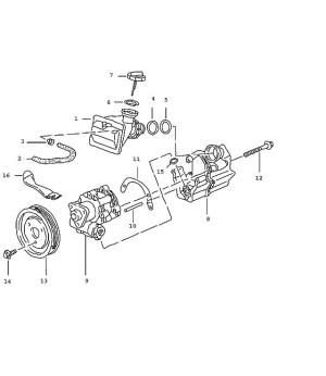 Porsche 996, Boxster Power Steering Fluid Tank