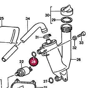 Upper Oil/Air Seperator O-Ring 20x5mm