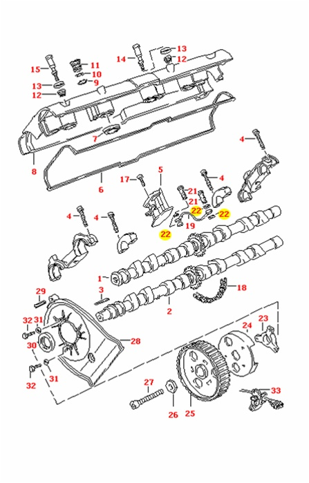 Porsche 928, 944S, 944S2 and 968 Sealing Ring for 'J' Tube
