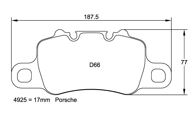 Pagid 4925 Brake Pad Set for Porsche