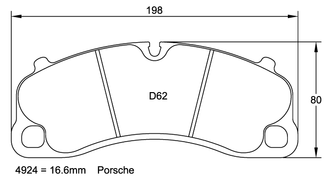 Pagid 4924 Racing Brake Pad Set for Porsche GT3