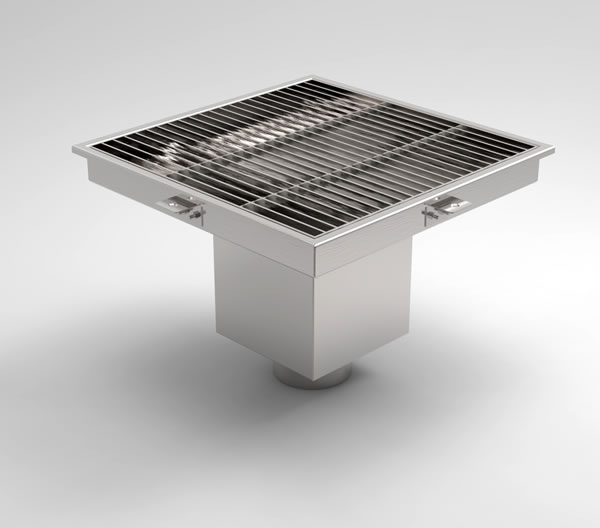 SGV450 Trapped Square Floor Gully  Paragon Stainless