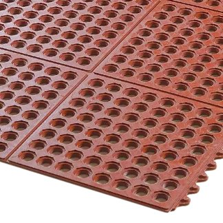 AXIA 3'x3' Anti-Fatigue Mat, Anti-Locking, Grease Resistant, Red (AFD3636TT)