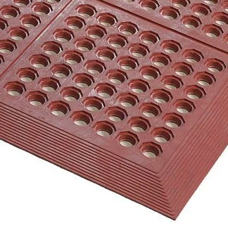 AXIA 3′x5′ Anti-Fatigue Mat, Grease Resistant, Red (AFD3660T)