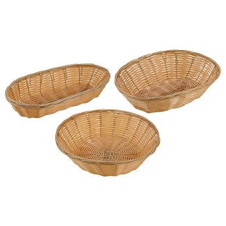 Winco Tan Poly Woven Baskets (PWBN)