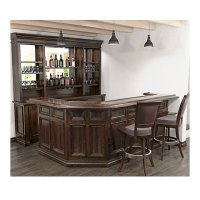 Customized Home Bar with Optional Barstools