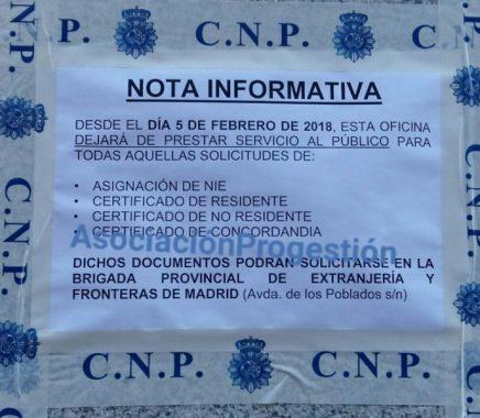 Aviso Comisaría C/San Felipe