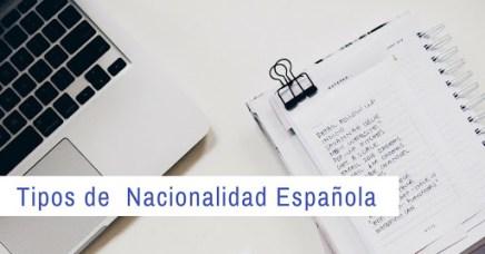 Tipos de Nacionalidad Española