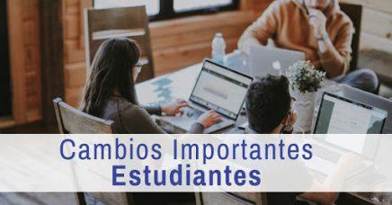 ¡Cambios importantes!: Estudiantes