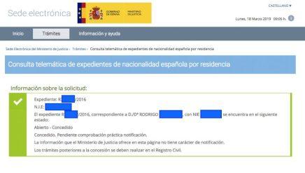 Concesiones de Nacionalidad Española Rodrigo